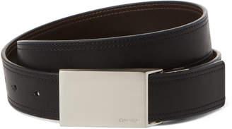 Calvin Klein Black & Brown Plaque Reversible Belt