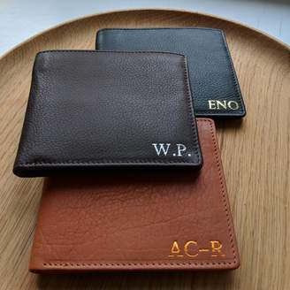 Foiled Personalised Men's Classic Leather Wallet
