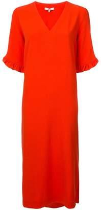 Ganni ruffled sleeves shift dress