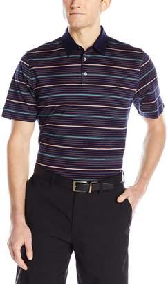 Cutter & Buck Men's Short Sleeve Helios Mercerized Stripe Polo