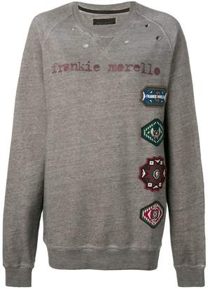 Frankie Morello oversized logo patch sweatshirt