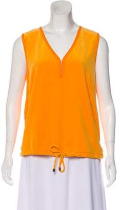 Sonia Rykiel Velvet Sleeveless Top