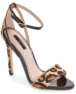 Women's Topshop Raphael New Genuine Calf Hair Sandal $75 thestylecure.com