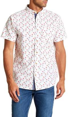 Straight Faded Nautical Short Sleeve Modern Fit Shirt