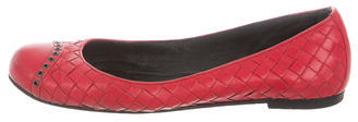 Bottega Veneta Bottega Veneta Intrecciato Leather Flats