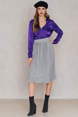 Rut & Circle Rut&Circle Pleated Skirt Grey