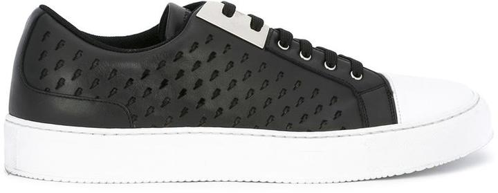 Neil Barrett perforated sneakers