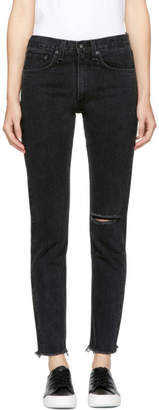 Rag & Bone Black High-Rise Skinny Jeans