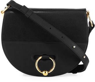 J.W.Anderson Latch Goatskin Leather Saddle Shoulder Bag