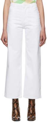 Eckhaus Latta White Wide Leg Jeans