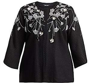 Misook Misook, Plus Size Misook, Plus Size Women's Floral Embroidered Jacket