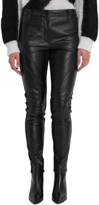 Alberta Ferretti Leather Skinny Pants