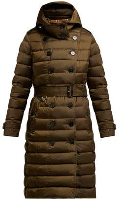 Burberry Dalmerton Single Breasted Quilted Coat - Womens - Green