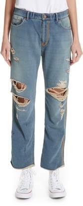 Undercover Ripped Indigo Sweatpants