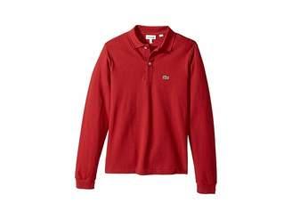 Lacoste Kids Long Sleeve Classic Pique Polo (Infant/Toddler/Little Kids/Big Kids)