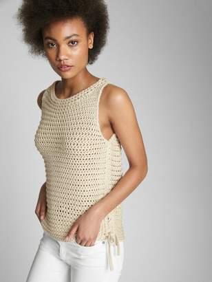 Gap Side-Tie Crochet Tank Top