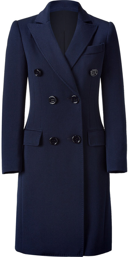 Moschino Cheap & Chic Traditional Royal Blue Long Coat
