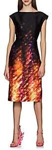 Prada Women's Bow-Embellished Crystal-Print Sheath Dress
