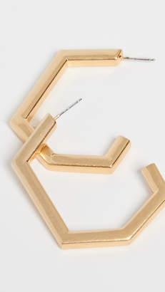 Madewell Geo Metal Hoop Earrings
