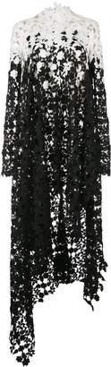 Oscar de la Renta floral crochet long top