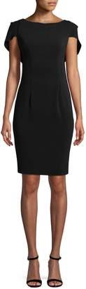 Carmen Marc Valvo Women's Solid Ruffle Dress