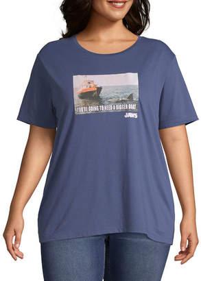 Universal Short Sleeve Graphic T-Shirt-Juniors Plus