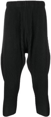 Issey Miyake Homme Plissé plissé tapered trousers