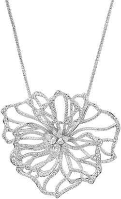 Nadri Corsage Long Flower Pendant Necklace, 28