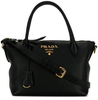 Prada medium zipped tote