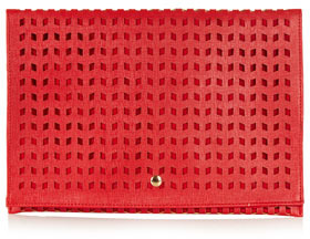 Topshop Perforated Clutch