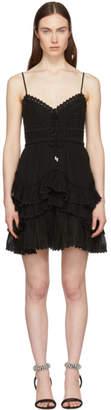 Isabel Marant Black Zowie Endless Summer Short Dress