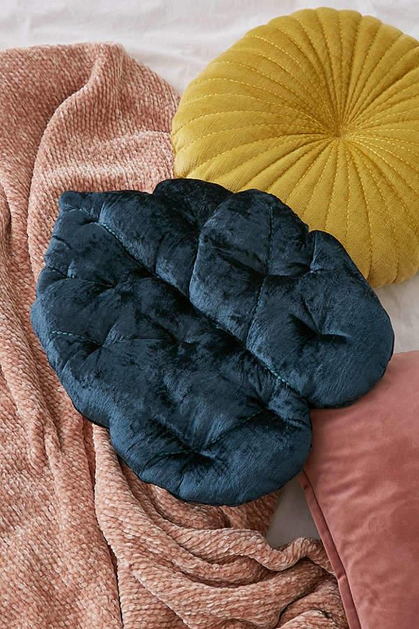 Velvet Palm Throw Pillow