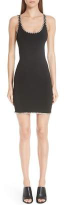 Alexander Wang Grommet Trim Scuba Body-Con Dress