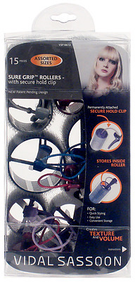 Vidal Sassoon Self-Holding Sure Grip Rollers W/Clip
