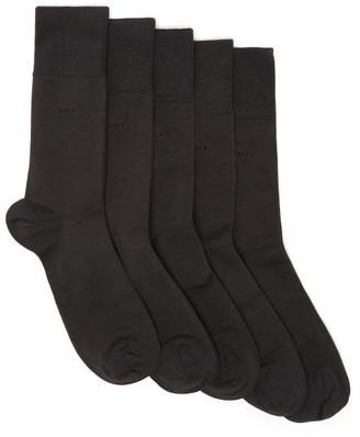 Cdlp - Pack Of Five Bamboo Blend Socks - Mens - Charcoal