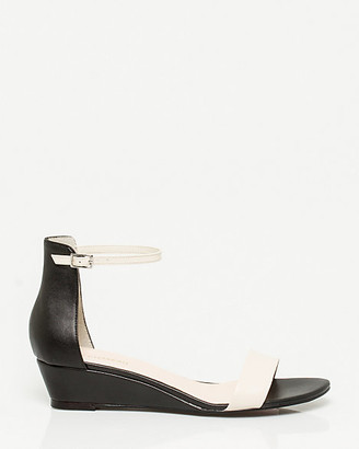 Le Château Leather-Like Ankle Strap Wedge
