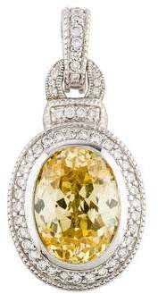 Judith Ripka 18K Canary Crystal & Diamond Pendant