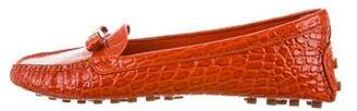 Tory Burch Embossed Leather Driving Loafers