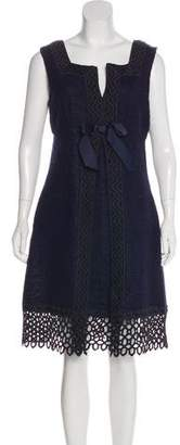 Anna Sui Embroidered Striped Dress