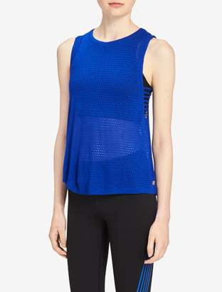 Calvin Klein drop arm mesh tank top