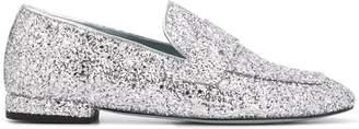 Chiara Ferragni glitter slip-on loafers