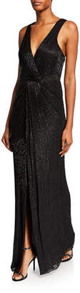 Parker Monarch Sequin V-Neck Sleeveless Gown