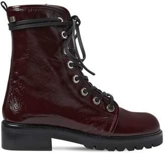 Stuart Weitzman 30mm Metermaid Patent Leather Boots