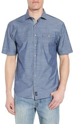 johnnie-O Lucas Regular Fit Chambray Sport Shirt