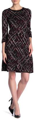 Taylor 3\u002F4 Sleeve Print Dress