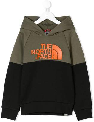 The North Face Kids colour block hoodie