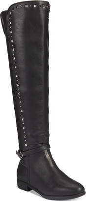 Rialto Ferrell Studded Wide-Calf Over-The-Knee Boots Women's Shoes
