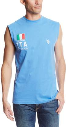 U.S. Polo Assn. Men's Italy Flag Muscle T-Shirt