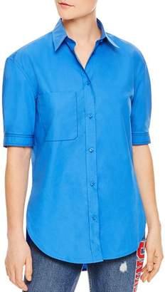 Sandro Phil Short-Sleeve Cotton Button-Down Shirt