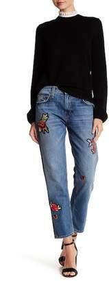 Joie Josie Embroidered Patch Crop Jeans